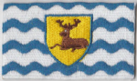 Hertfordshire Embroidered Flag Patch, style 04